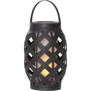 Felinar Best Season Flame Lantern, 15 x 23 cm, negru poza bonami.ro