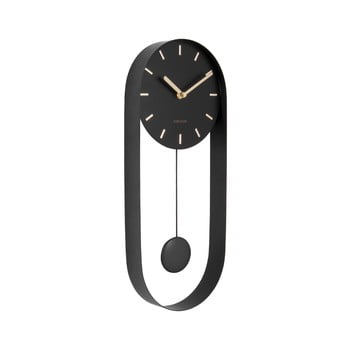 Ceas de perete cu pendul Karlsson Charm, negru bonami.ro