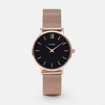 Ceas damă Cluse Minuit, auriu - roz imagine