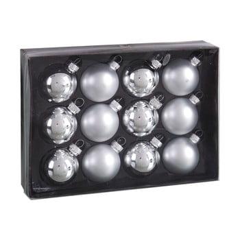 Set 12 decorațiuni de Crăciun Unimasa Brightness, argintiu bonami.ro