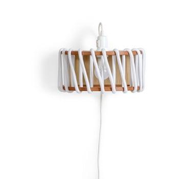 Aplică cu structură din lemn EMKO Macaron, lungime 30 cm, alb imagine