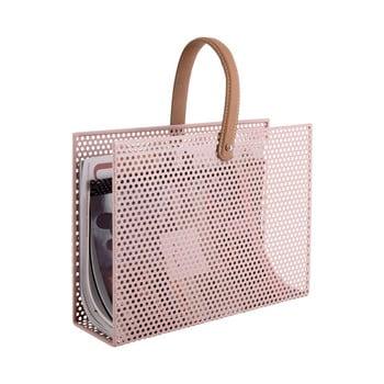 Suport metalic pentru reviste PT LIVING Perky, roz deschis bonami.ro