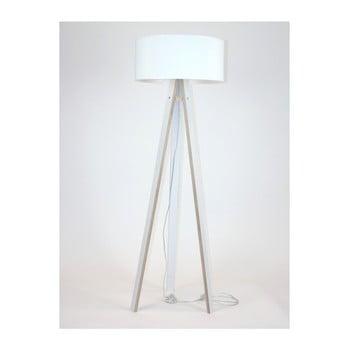 Lampadar cu abajur alb și cablu transparent Ragaba Wanda poza bonami.ro
