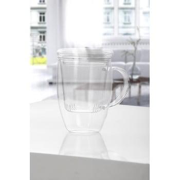 Cană pentru ceai din sticlă cu capac Bambum Denisse, 500 ml poza bonami.ro