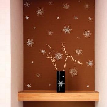 Set 30 autocolantede Crăciun Ambiance Christmas Silver Flakes poza bonami.ro