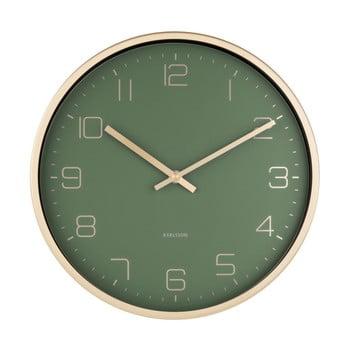 Ceas de perete Karlsson Elegance, verde poza bonami.ro