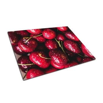 Tocător din sticlă Insigne Cherries bonami.ro