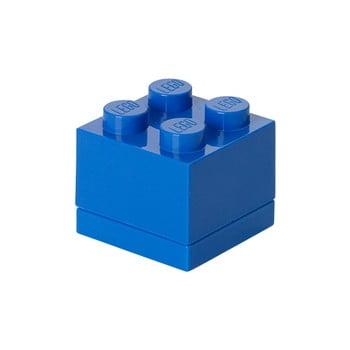 Cutie depozitare LEGO® Mini Box Blue, albastru bonami.ro