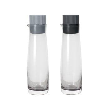 Set 2 sticle pentru oțet și ulei cu capac de silicon Blomus Basic, gri bonami.ro