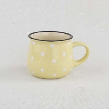 Cană din ceramică cu punte Dakls, volum 0,2 l, galben poza bonami.ro