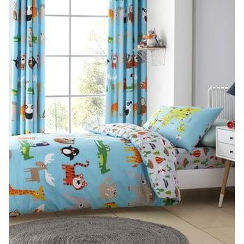 Lenjerie de pat pentru copii Catherine Lansfield Animal Adventure, 135 x 200 cm poza bonami.ro
