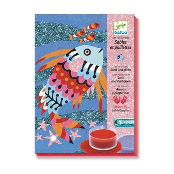 Set artistic cu nisip Djeco Rainbow Fish poza bonami.ro