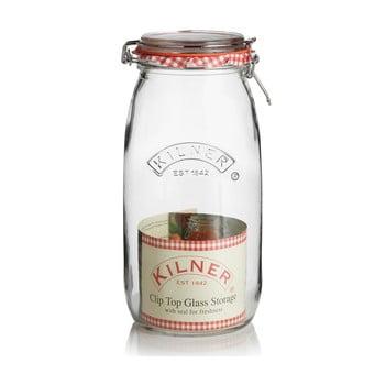 Borcan din sticlă cu clips Kilner, 2 L poza bonami.ro