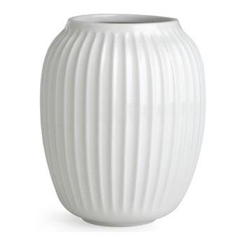 Vază din gresie Kähler Design Hammershoi, alb, înălțime 20 cm poza bonami.ro