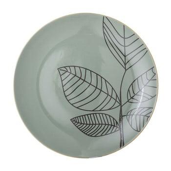 Farfurie plată din ceramică Bloomingville Rio, ⌀22 cm, verde poza bonami.ro