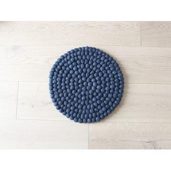 Pernă cu bile din lână pentru copii Wooldot Ball Chair Pad, ⌀ 30 cm, albastru închis poza bonami.ro