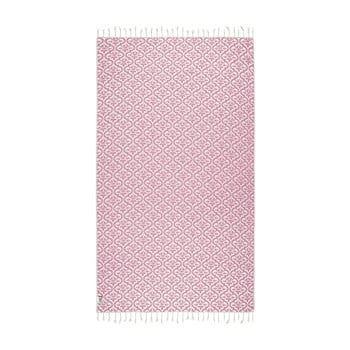 Prosop hammam Kate Louise Bonita, 165 x 100 cm, roz poza bonami.ro