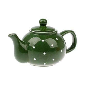 Ceainic din ceramică Dakls Dots, 1 l, verde bonami.ro
