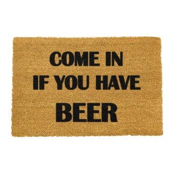 Covoraș intrare din fibre de cocos Artsy Doormats Come Again and Bring Beer, 40 x 60 cm poza bonami.ro