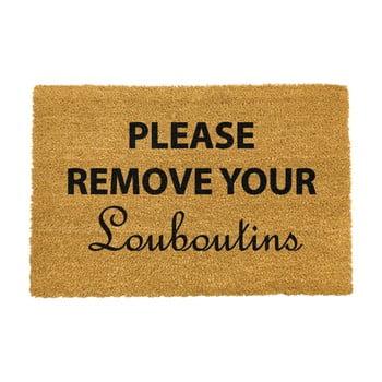 Covoraș intrare din fibre de cocos Artsy Doormats Your Louboutins, 40 x 60 cm poza bonami.ro
