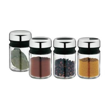 Set 4 recipiente pentru condimente din oțel inoxidabil Cromargan® WMF Depot, înălțime 9,5 cm bonami.ro