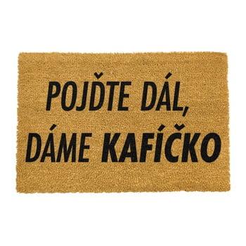 Covoraș intrare din fibre de cocos Artsy Doormats Kaficko, 40 x 60 cm poza bonami.ro