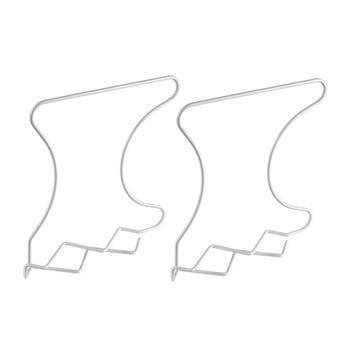 Set 2 separatoare pentru raft Metaltex Wally, alb poza bonami.ro