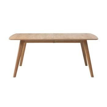 Masă extensibilă din lemn de stejar Unique Furniture Rho, 180x100cm imagine