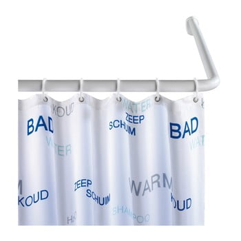 Suport universal pe colț pentru perdea duș Wenko, ø 2,8 cm, alb poza bonami.ro
