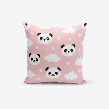 Față de pernă cu amestec din bumbac Minimalist Cushion Covers Panda, 45 x 45 cm bonami.ro