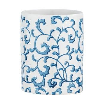 Suport ceramică pentru periuțe de dinți Wenko Mirabello, alb - albastru poza bonami.ro