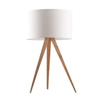 Veioză Zuiver Tripod wood, ø 28 cm, alb imagine