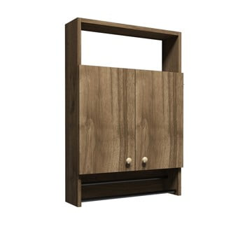 Dulap pentru baie în decor de lemn de nuc Muzzo Ela bonami.ro