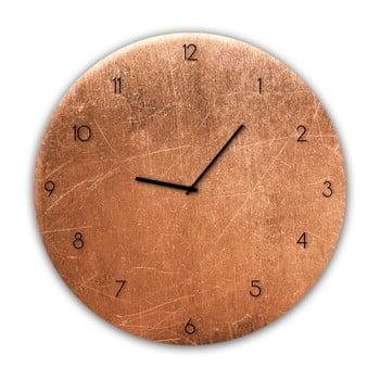 Ceas de perete Styler Glassclock Copper, ⌀ 30 cm bonami.ro