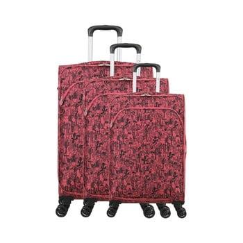 Set 3 trolere cu 4 roți Lulucastagnette Casandra, roz imagine