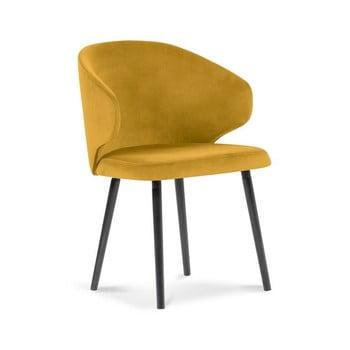 Scaun cu tapițerie de catifea Windsor & Co Sofas Nemesis, galben bonami.ro