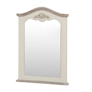 Oglindă din lemn de plop Livin Hill Rimini, crem, înălțime 85 cm imagine