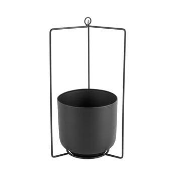 Ghiveci suspendat din metal PT LIVING Spatial, înălțime 36cm, negru bonami.ro