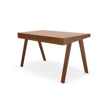 Birou cu picioare din lemn de frasin EMKO, 140 x 70 cm, maro imagine