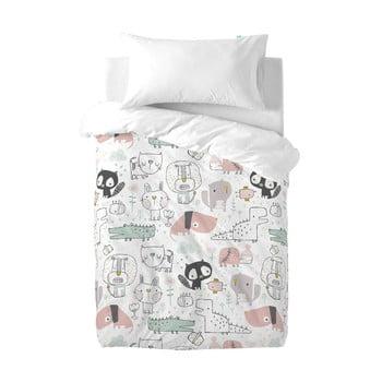 Lenjerie de pat din bumbac pentru copii Moshi Moshi Best Buddies, 100x120cm poza bonami.ro