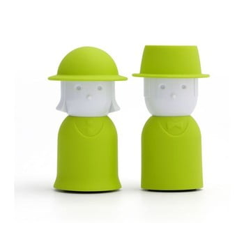 Solniță și piperniță Qualy&CO Mr.Pepper & Mrs. Salt, verde bonami.ro