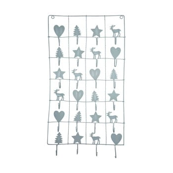 Calendar metalic advent Green Gate, lungime 71 cm, gri bonami.ro