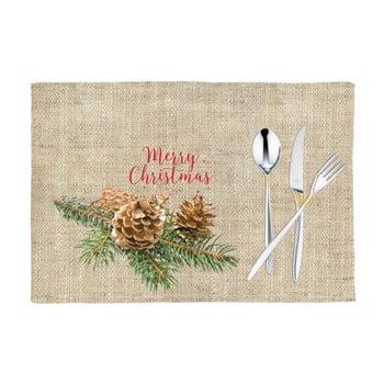 Set 2 suporturi farfurie cu model de Crăciun Mike&Co.NEWYORK Honey Merry, 33 x 45 cm poza bonami.ro