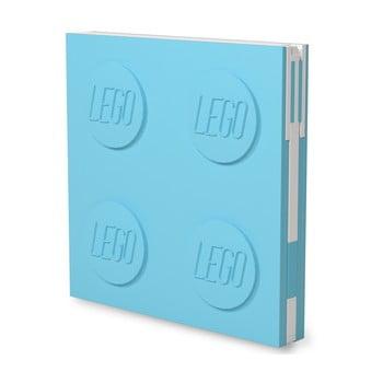 Jurnal pătrat cu pix cu gel LEGO®, 15,9 x 15,9 cm, turcoaz bonami.ro