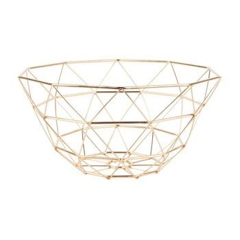 Fructieră PT LIVING Diamond, ⌀ 30 cm, auriu bonami.ro