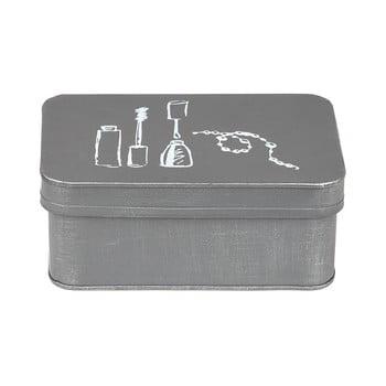Cutie metalică pentru cosmetice LABEL51, gri bonami.ro