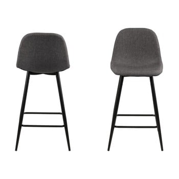 Set 2 scaune Actona Wilma, gri închis imagine