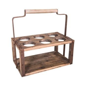 Suport din lemn pentru 6 sticle antic Line bonami.ro