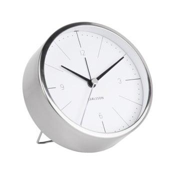 Ceas alarmă Karlsson Normann, Ø 10 cm, alb - gri bonami.ro