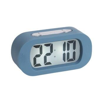 Ceas cauciucat cu alarmă Karlsson Gummy, albastru bonami.ro